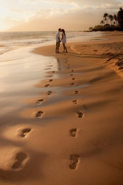 Kumsalda aşkın izleri... ~ FOTOLOMOP