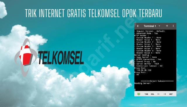 trik internet gratis telkomsel opok terbaru