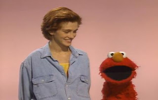 Julia Roberts and Elmo demonstrate afraid. Sesame Street The Best of Elmo