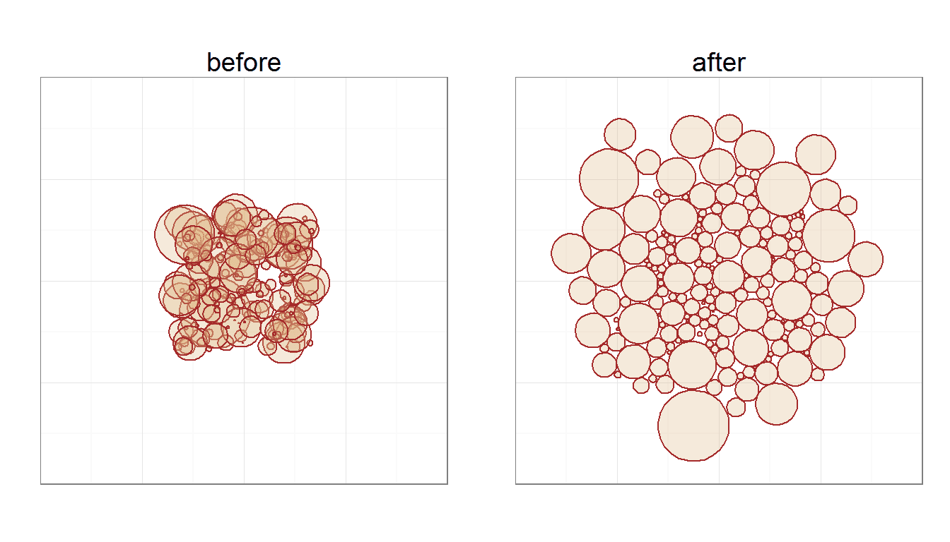 Circle packing in R (again)
