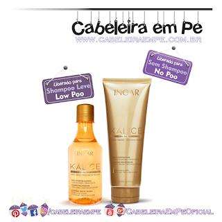 Shampoo e Máscara Kálice - Inoar (Shampoo Low Poo e Máscara No Poo)