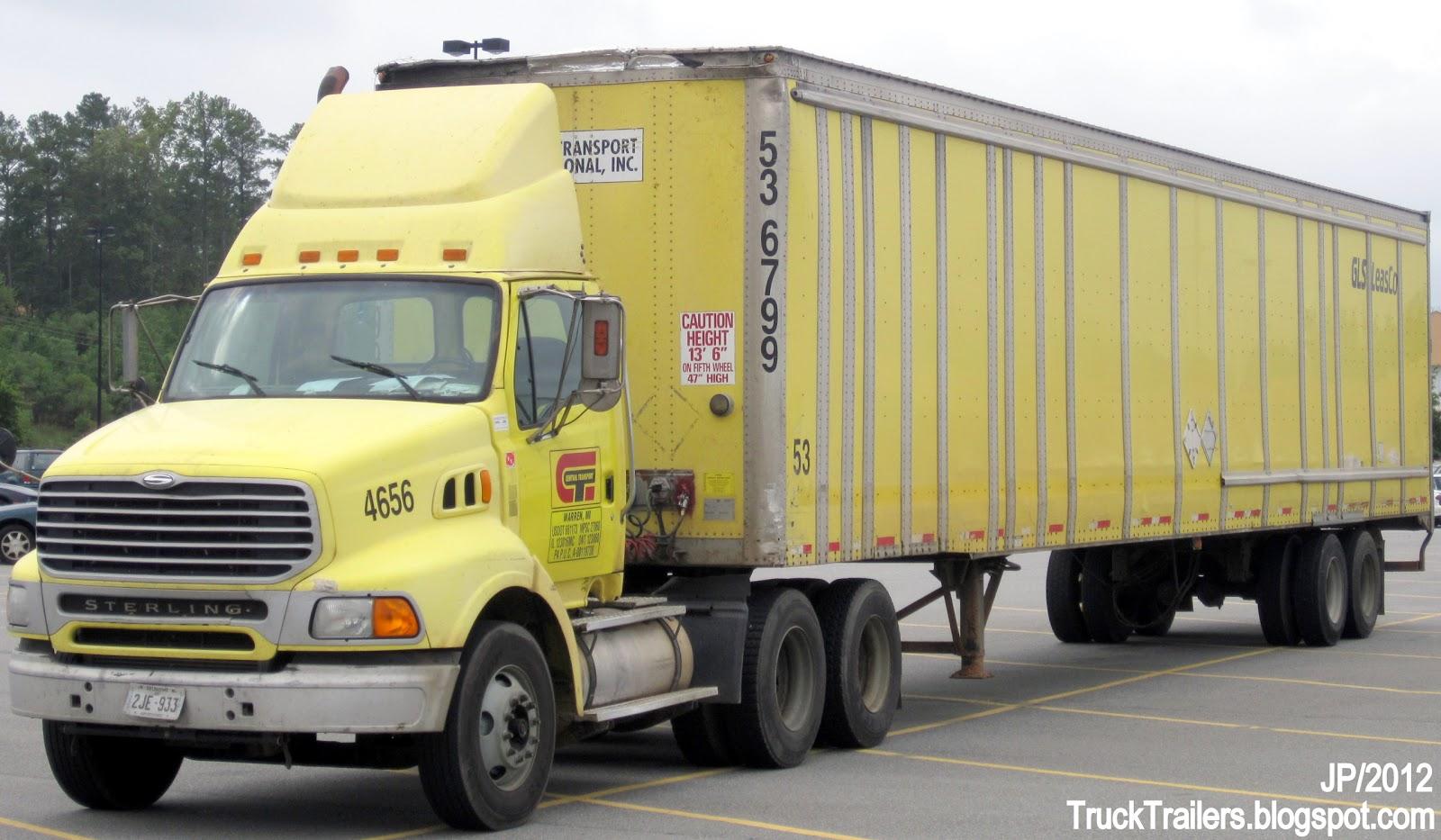 TRUCK TRAILER Transport Express Freight Logistic Diesel ...