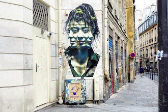 Sunday Street Art : Eddie Colla - angle des rues Rambuteau et du Temple - Paris 4