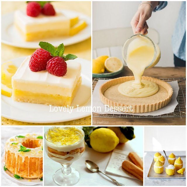 Recipes: 10 Lovely Lemon Desserts  {Cool Chic Style Fashion}