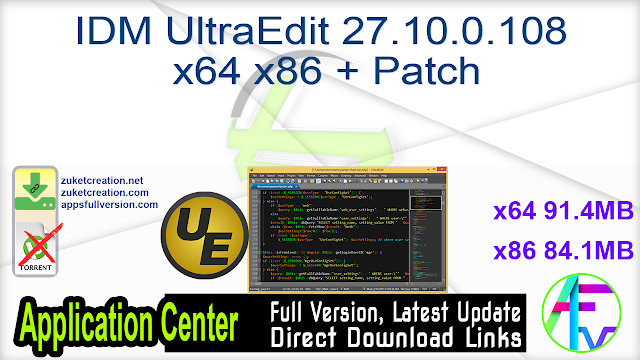 IDM UltraEdit 27.10.0.108 x64 x86 + Patch