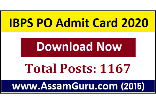 Download IBPS PO Admit Card 2020