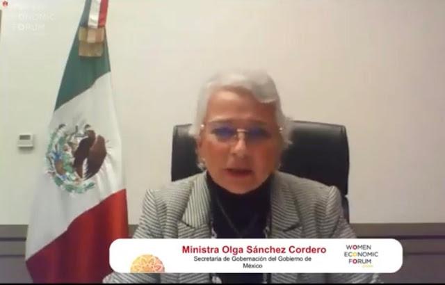 El Gobierno de México ha impulsado la paridad en la conformación del gabinete: Sánchez Cordero