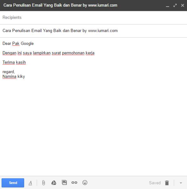 Cara Penulisan Email yang Baik dan Benar