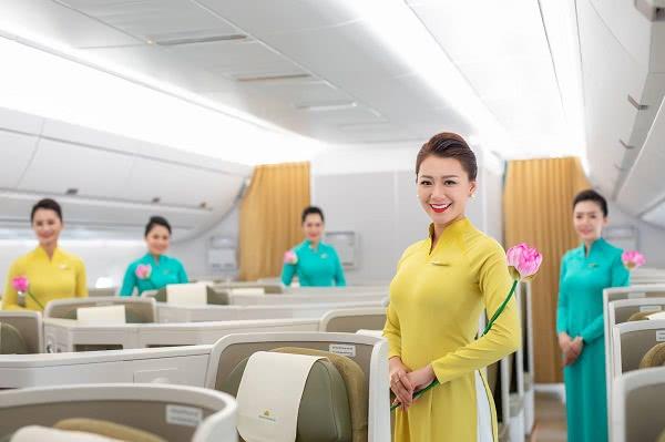 Đồng phục áo dài tiếp viên Việt Nam Airline