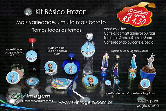 #kit #promoção #svimagem #frozen #infantil #adesivos #tag