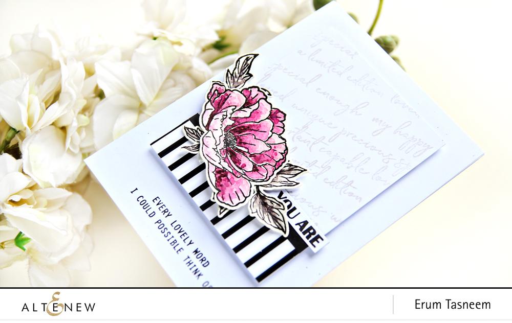 Altenew Beautiful Peony Stamp Set | Erum Tasneem | @pr0digy0