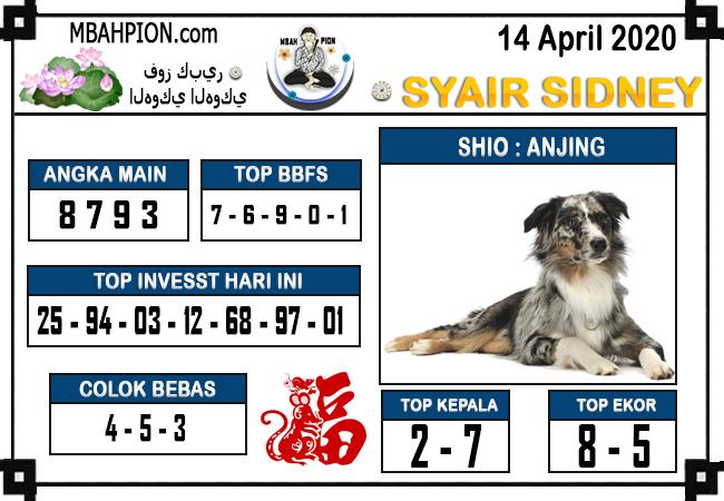 Prediksi Sidney Selasa 14 April 2020 - Syair Mbah Pion