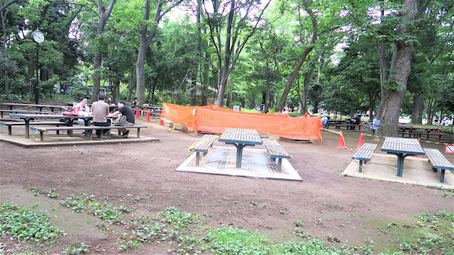 Rinshinomori park BBQ area