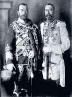 Russian Czar Nicholas II and English King George V