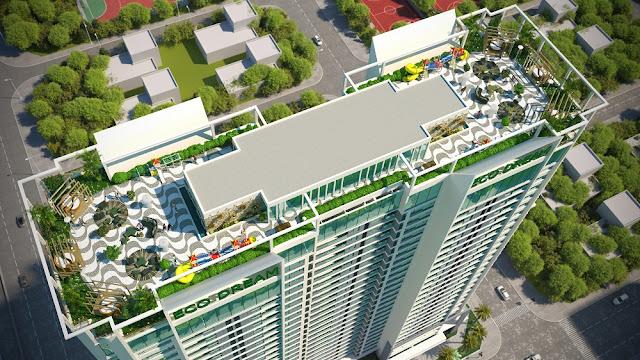 Tiện ích sky bar trên tầng mái tại Eco Dream