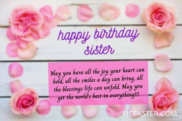 Latest Happy Birthday Sister Images Quotes Free Download 2020 Whatsapp Dp Status Pics Picfaster