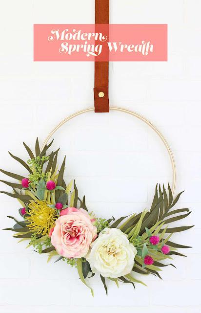 Modern Spring Wreath