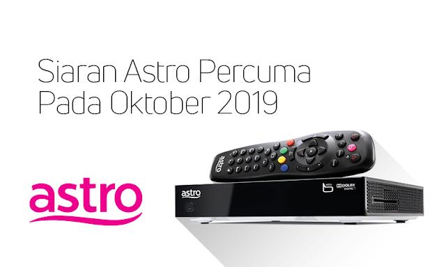 Saluran Astro Percuma oktober 2019