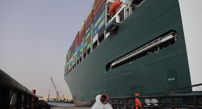 Efforts To Free Ship Stuck In Suez Canal Continues With Optimism