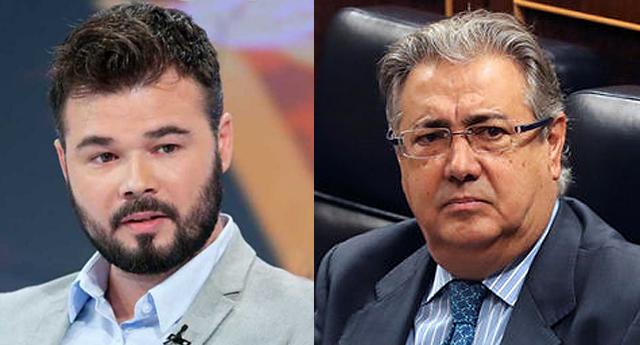 Apoteósico ZASCA! de Gabriel Rufián a Juan Ignacio Zoido (PP)