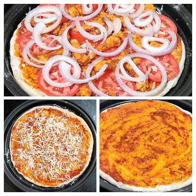 Grilled Prawn Pizza