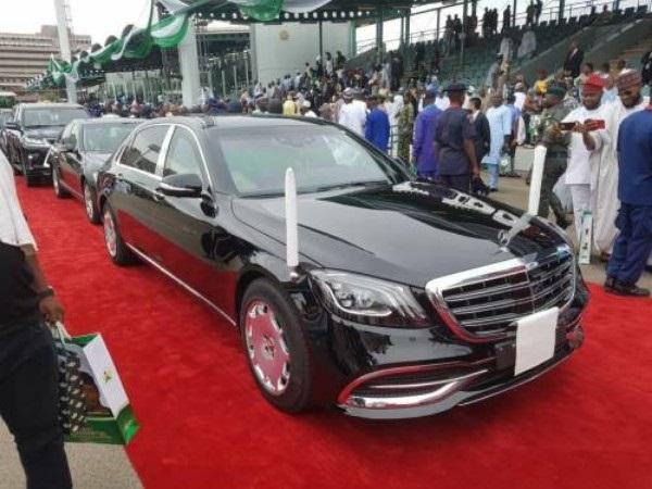 Photos Of President Buhari's 2019 Armoured Mercedes-Maybach S560