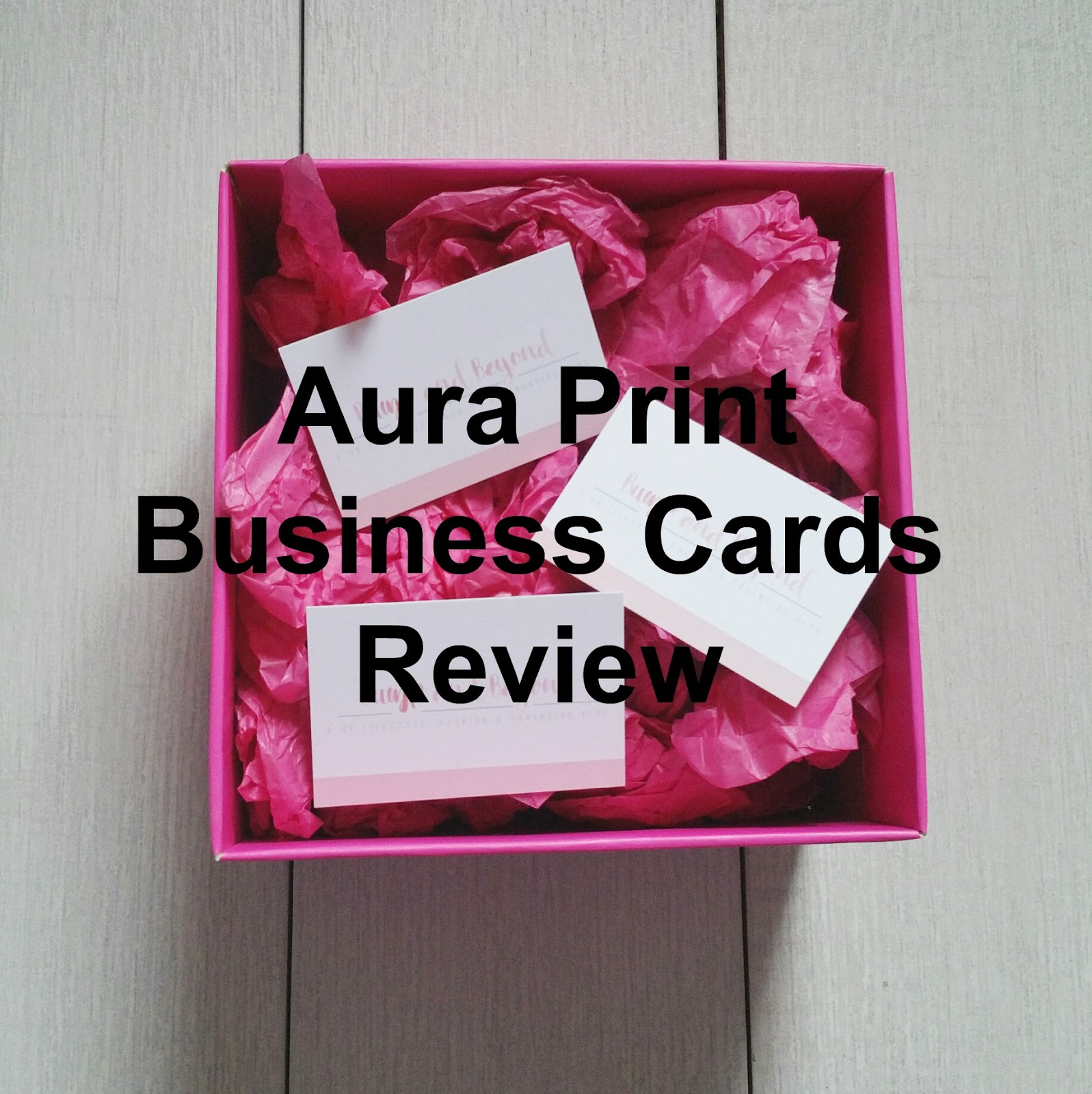 Review | Aura Print Business Cards*