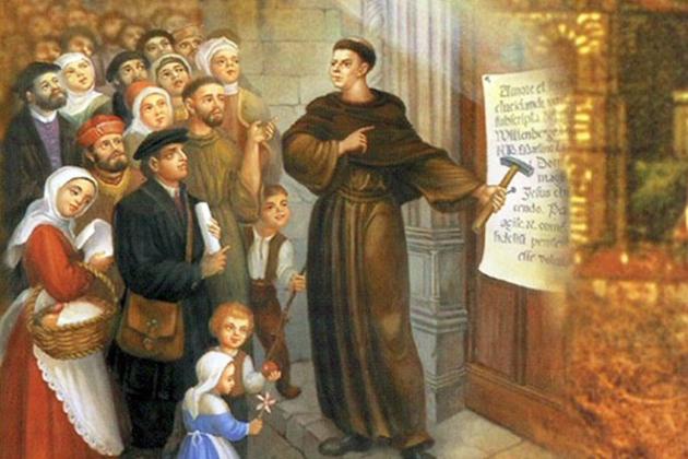 Lutero clava sus 95 tesis el 31 de octubre de 1537