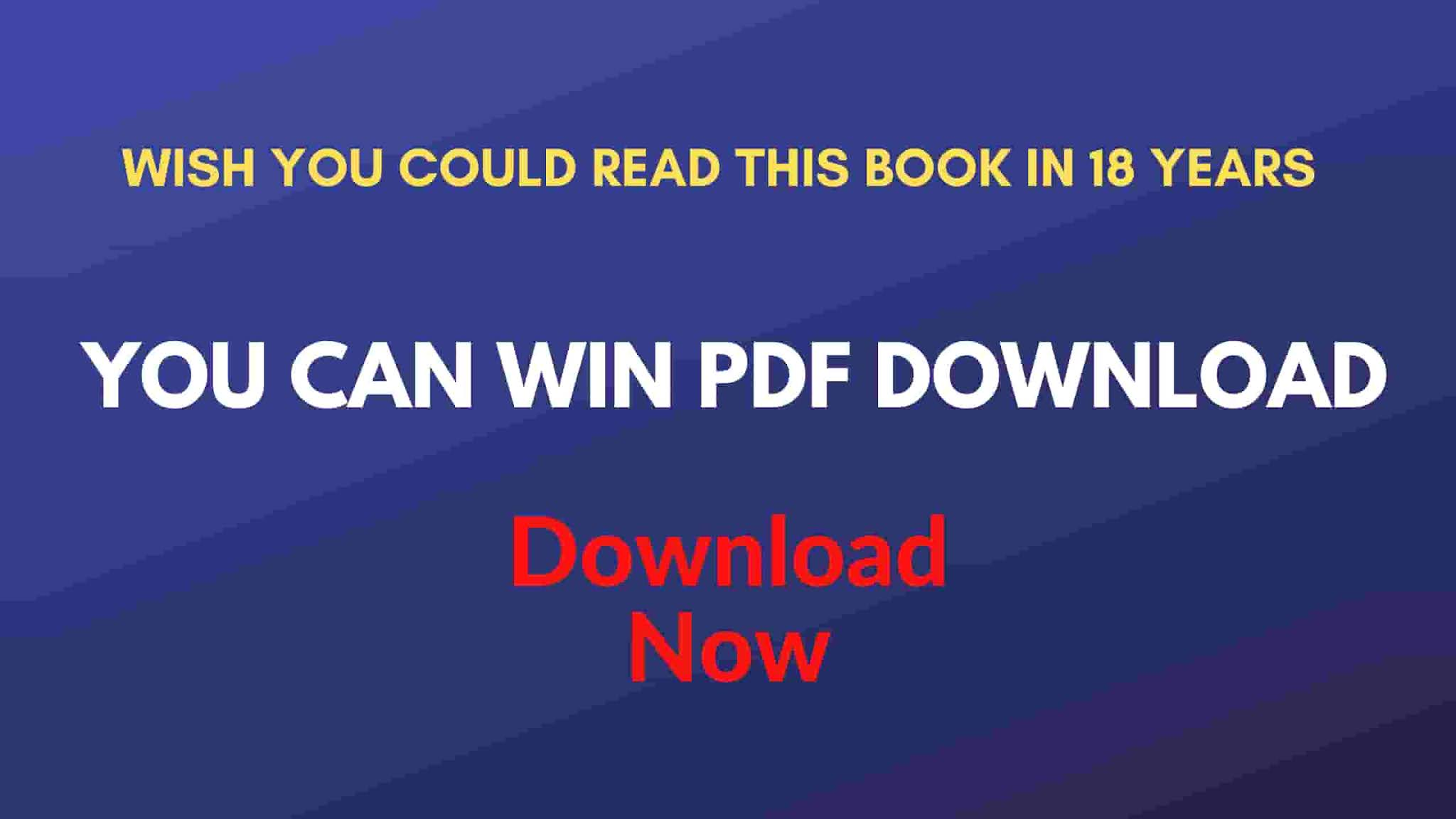 You Can Win PDF Free Download
