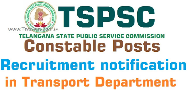 TSPSC,Police Constable Posts,Transport Department