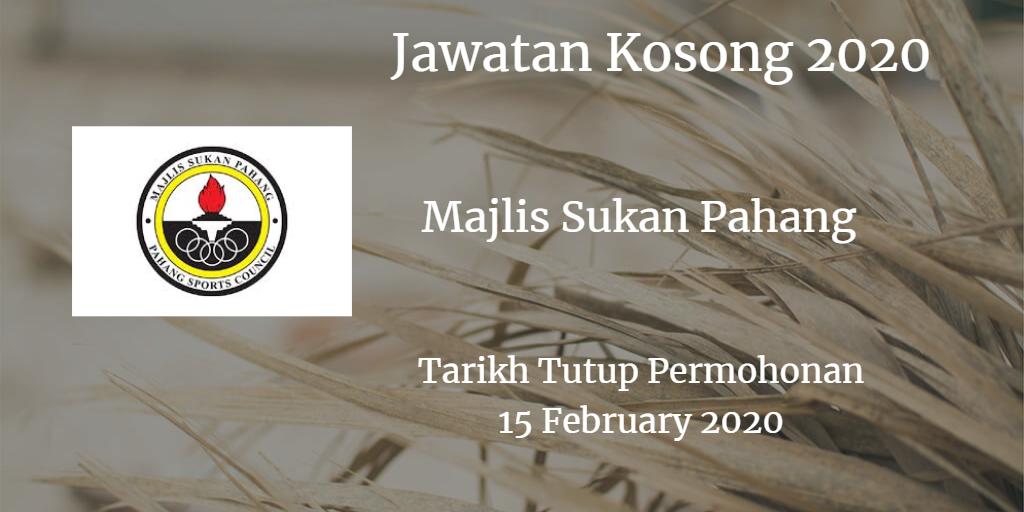 Jawatan Kosong MSP 15 February 2020