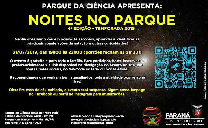 NESTA QUARTA-FEIRA TEM NOITES NO PARQUE!