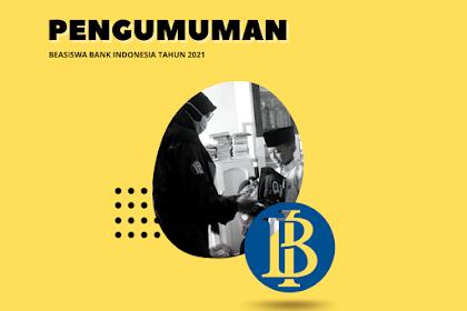 Pengumuman Beasiswa Bank Indonesia Tahun 2021