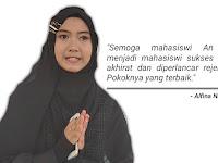 Alfina Nindiyani Doakan yang Terbaik untuk IAI An Nur Lampung