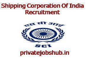 Shipping Corporation Of India Recruitment