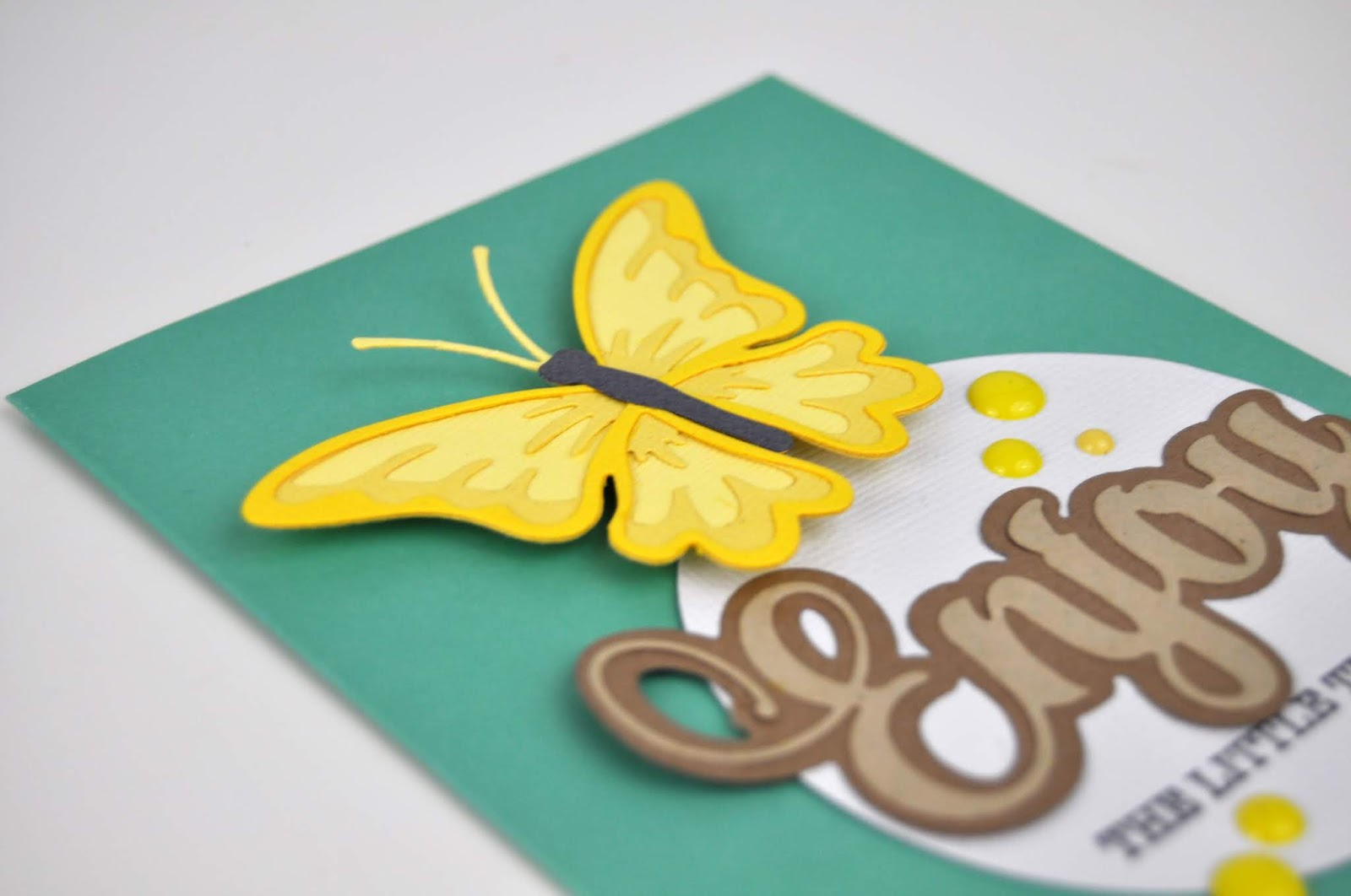 Spellbinders Exclusive Indie Die collection. Jen Gallacher die cuts a layered butterfly from different colors of cardstock using exclusive Spellbinders die sets. #diecutting #spellbinders #jengallacher #cardmaking