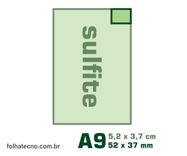 medidas do papel A9