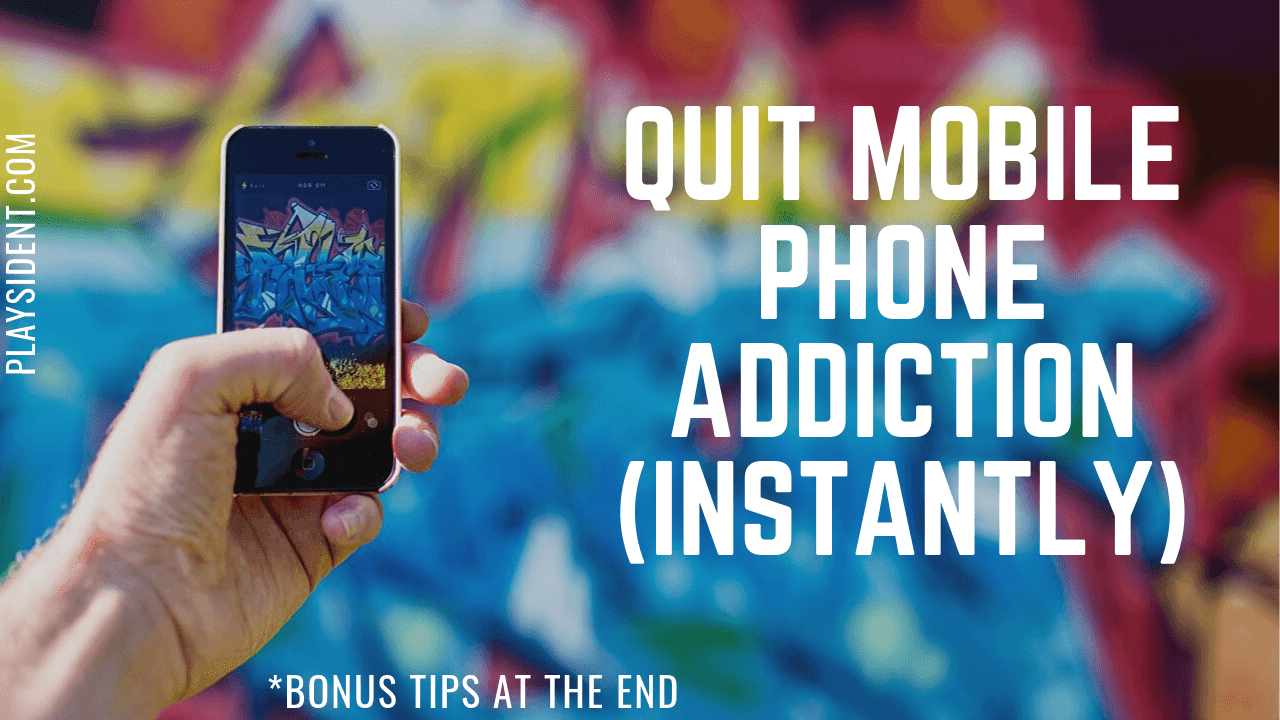How to quit and cure mobile phone addiction instantly