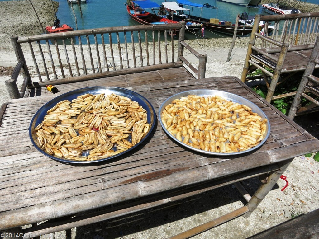 Sun dried bananas