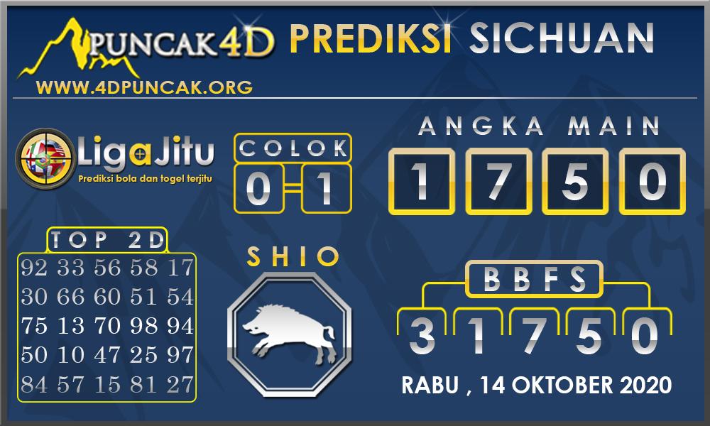 PREDIKSI TOGEL SICHUAN PUNCAK4D 14 OKTOBER 2020