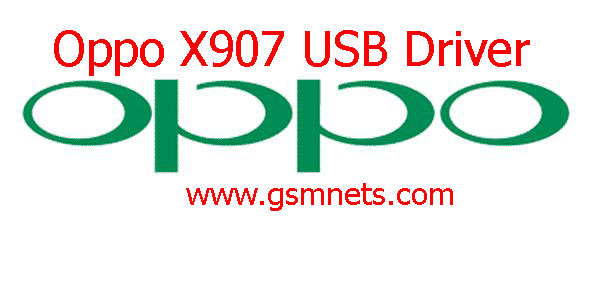 Oppo X907 USB Driver Download