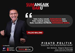 """Faldo Maldini Orasi Politik Sembilan """"SUMangaik BARu"""""""