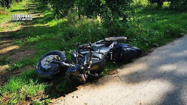 Τραυματισμός αναβάτη μηχανής έξω από το Άργος