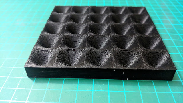 3D printed model of a rippled surface