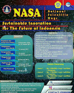 Nasional Scientific Days (NASA) 2017