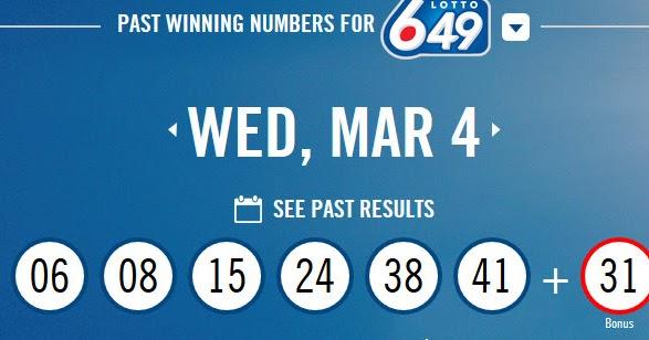 Canada 649 Lotto Result
