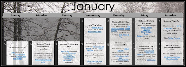 Daily academic or social emotional tie-ins to complement holidays for through the first full week of January.