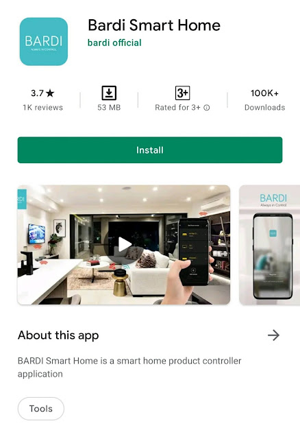 Aplikasi Bardi Smart Home
