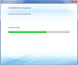 Progression installation proteus 8