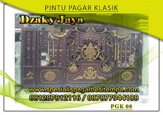 Model pintu, gerbang, pagar, besi, tempa, klasik, mewah 08